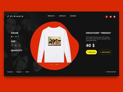 card friends website design card ux ui webdesign web landing interface homepage e-commerce daily dailyui creativity colour appdesign