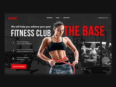 the base concept fitnes club sport ui design uiux ui landing homepage design webdesign creativity e-commerce dailyui daily colour appdesign