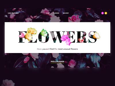 Flowers uxdesign flowers design web ui webdesign homepage e-commerce dailyui creativity colour appdesign