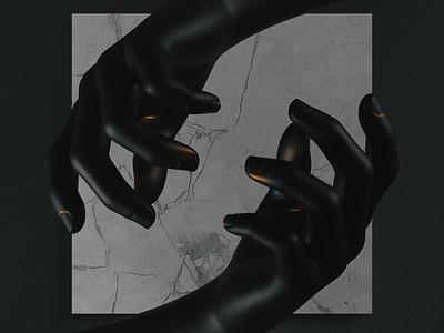 Procedural Hands blend dark surreal procedural gold hand matte black marble texture marble hands 3d artist 3d art 3d blendercycles blender3dart blender 3d blender3d blender