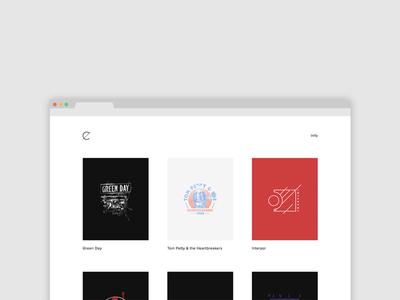 New Site simple minimal clean merchandise band merch squarespace ux ui web design portfolio website web