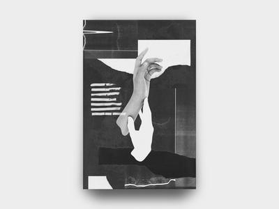Hands 001 minimal noise torn paper grain photocopy texture vintage punk diy collage hands black and white