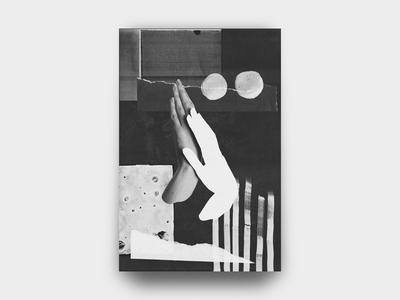 Hands 002 minimal noise torn paper grain photocopy texture vintage punk diy collage hands black and white