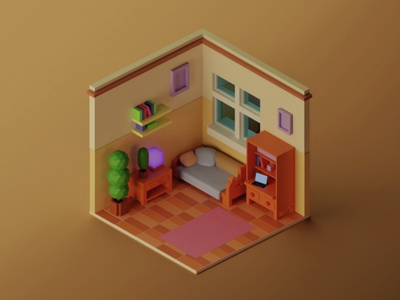 Just a room blender blender3d 3d isometric