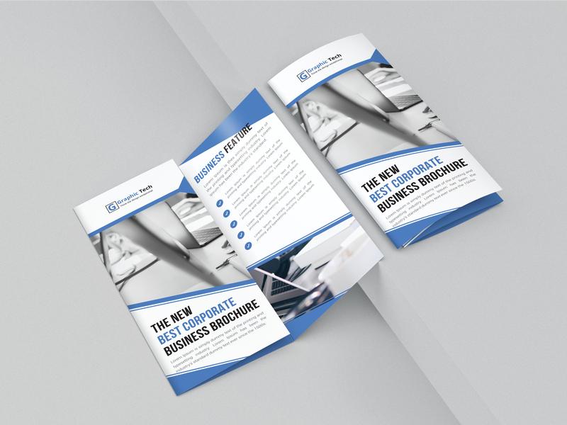 Fri Fold Brochure Design simple tri fold tri fold brochure brochure brochure template colorful blue a4 print design business clean branding design professional design professional design crative graphic design branding awesome corporate