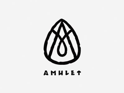 Amulet tea amulet magic tea runes stone monogram black