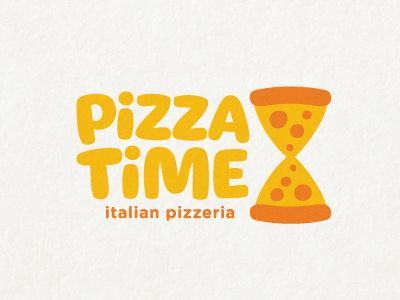Pizza Time pizza italia mafia pizzeria food restaurant logo mark