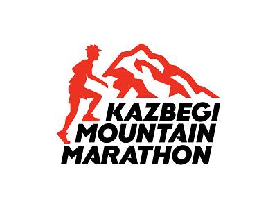 Kazbegi Mountain Marathon design vector mark mountains mountaineering running trekking alpinism branding logo sports logo geo kazbegi skyrunning trailrunning sport mountain