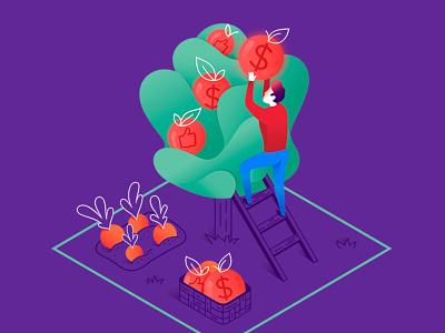 Illustration for juicify.me flat web minimal ux app ui vector branding illustration character