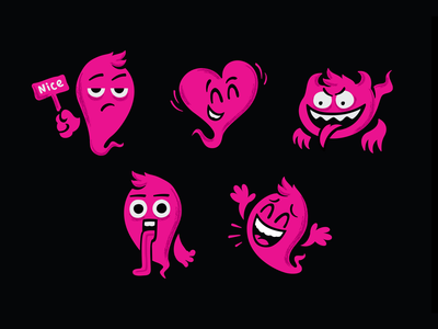 Emoji heart demon mascot design emotion emoji face icon vector illustration character