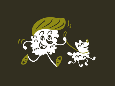 Character for Sushi Freak food vector branding illustration character roll dog sushi