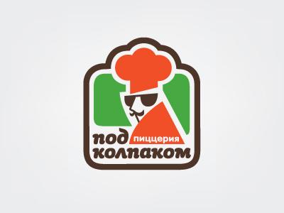 Logo for pizzeria in the mafia-style logotype logo mark mafia pizza italia restoraunt identity illustration character food branding pizzeria