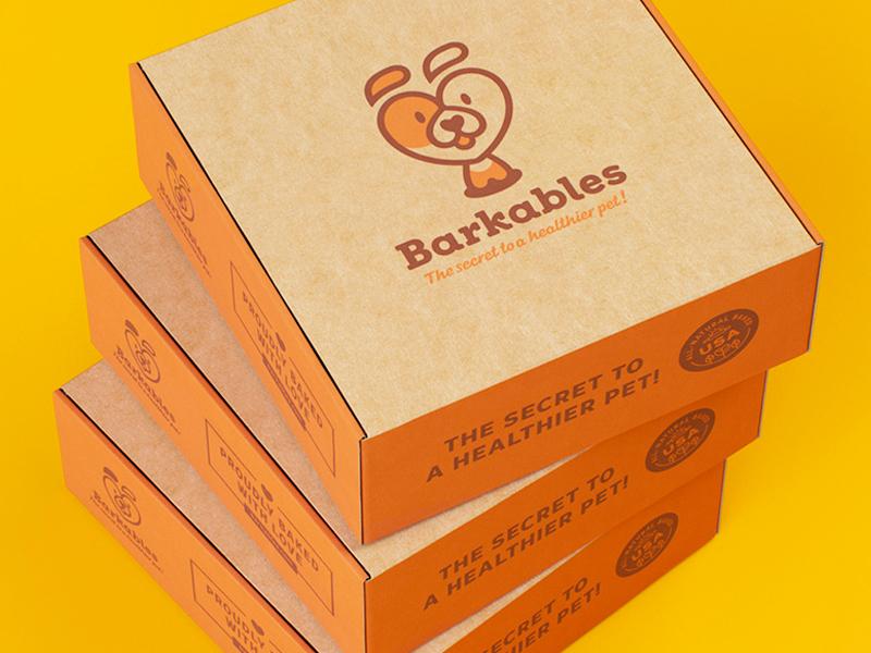 Barkables. Box. box subscription food pet mark love heart fun dog branding