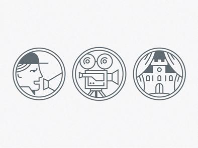 Director, cameraman, set designer icon cameraman cinema director