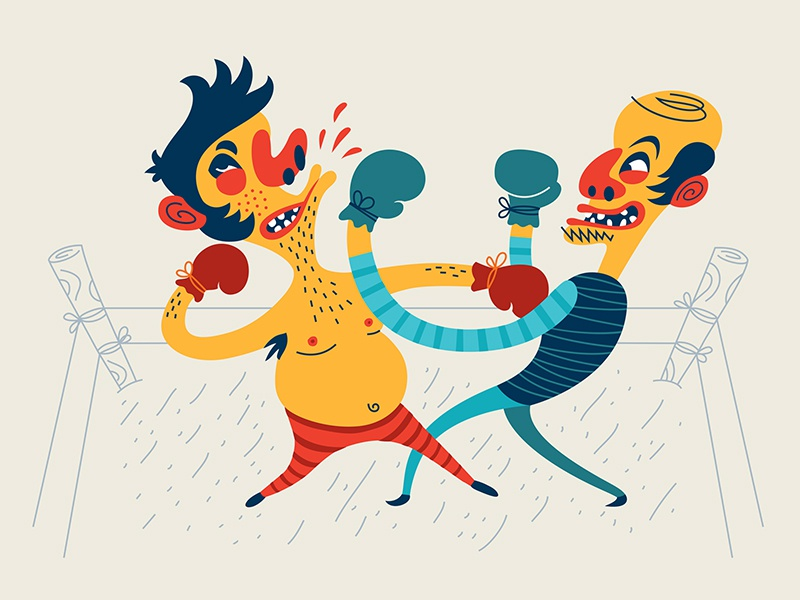Old school boxing by Dima Je on Dribbble
