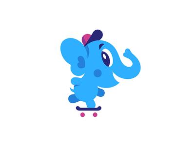 Baby Elephant. Vector mascot creativemarket skateboard kid character mascot vector elephant baby