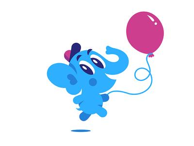 Baby Elephant. Vector mascot :) creativemarket vector baloon mascot kid elephant character baby