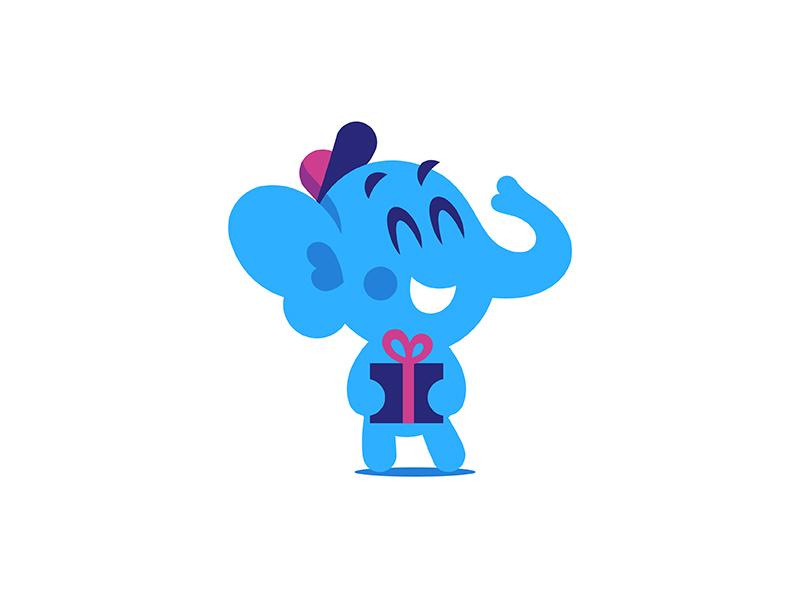 Baby Elephant :) creativemarket vector mascot kid elephant character baby