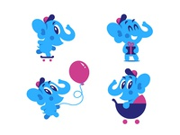 Baby Elephant. Vector mascot :)