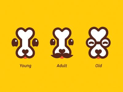 Dog bone logo s