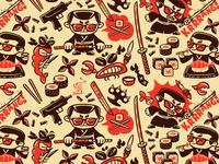 Mama Mafia. Japan pattern