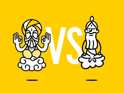 Character for Monk Says brand. See the winner on the next slide design vector yoga india ayurveda monk packaging design packaging mascot branding illustration character