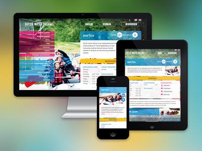 Dutch Water Dreams website responsive ipad iphone flowboard whitewater zoetermeer
