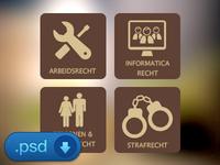 Custom law icon set