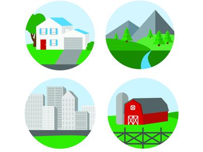Community Landscapes Illustrations