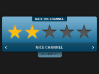 Rate channel screen for the TV