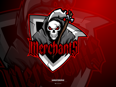Merchants Cyber Skull Mascot Logo Design | Skull Mascot Logo vintage logo design sports logo vector illustration mascot character cartoonmascot esportlogo mascot graphic design