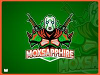 moxsapphire mascot logo design