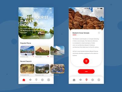 Tourist App Concept Design