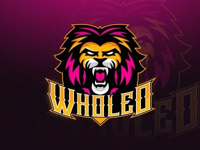 Lion Mascot logo design
