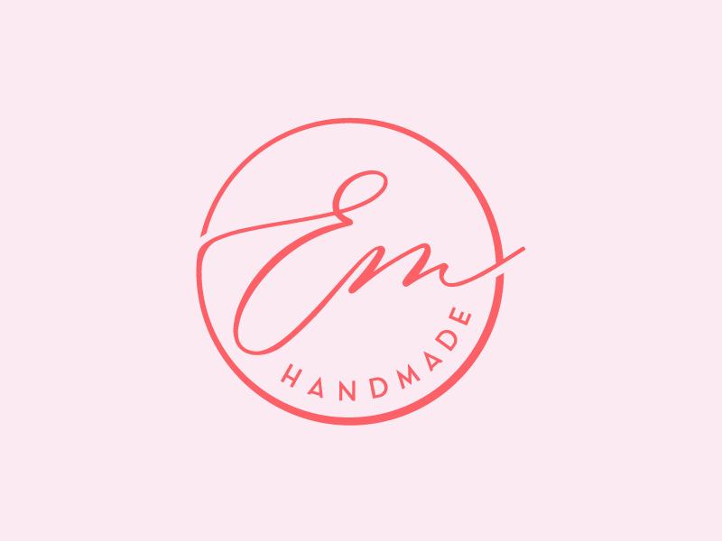Em Handmade logo brand design elegance handlettering elegant lettering type minimal icon typography branding design logo