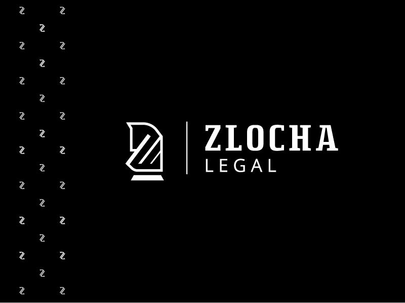 Zlocha Legal Logo + Pattern pattern law firm creative logo brand design brand lawyer law minimalist logo minimal elegance icon elegant creative branding design logo