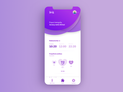 Íris - Old People's Health App - UI/UX