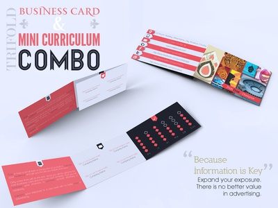 Trifold Business Card Mini Curriculum Combo By Luis Faus Dribbble - Tri fold business card template