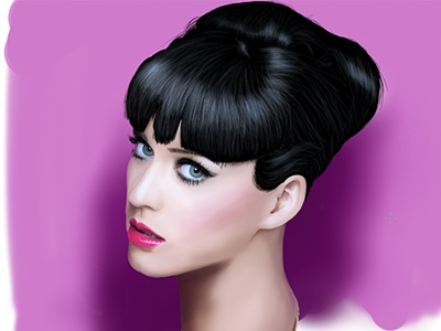 Katy Perry Digital Portrait  (Wip)   person woman realistic illustration wacom digital portrait portrait musician song sing katyperry