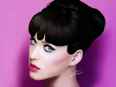 Katy Perry Digital Portrait person woman realistic illustration wacom digital portrait portrait musician song sing katyperry