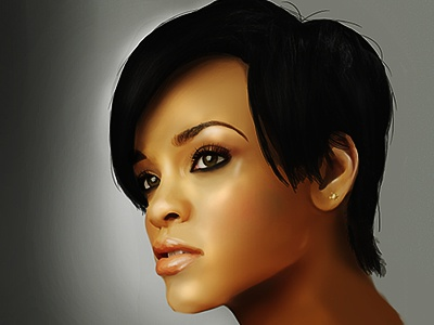 Rihanna Digital Portrait Wip mangastudio wacom celebrity singer music musician illustration digital portrait rihanna
