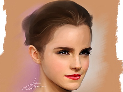 Emma Watson Speed Painting speed painting hermione actress hollywood sex symbol wacom illustration digital portrait harry potter emma watson