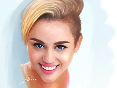 Miley Cyrus Speed Painting mangastudio. sketch music song actress singer blonde digital portrait illustration speed painting cyrus miley