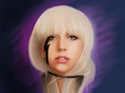 Lady Gaga Digital Portrait mangastudio wacom famous celebrity music song singer gaga lady