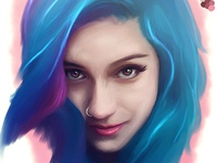 Fay Suicidegirls Digital Portrait Wip