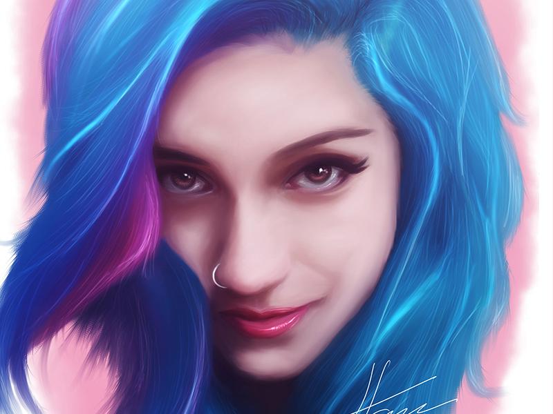 Fay Suicidegirls Digital Portrait Final By Luis Faus -1087