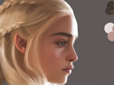 Game Of Thrones -  Digital Illustration (wip) medieval burlesque digital portrait digital illustration daenerystargaryen actress got gameofthrones