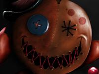 Vodoo Doll  3d realistic cartoon ugee mangastudio digital painting doll vodoo