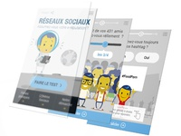 Responsive webdesign of a game based on social network