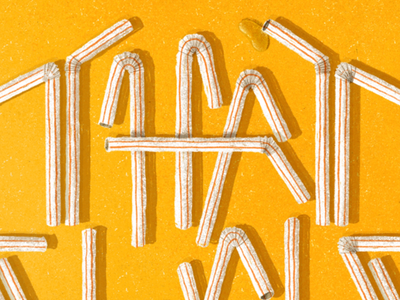 Plastic Straw Typography grain grainy that suck funny shadow red yellow typography typographic typeface typo type straws plastic straw